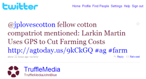 Fast Company Covers Cotton Farmer Larkin Martin's Use of GPS