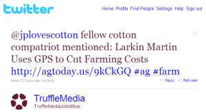 Fast Company Covers Cotton Farmer Larkin Martin's Use of GPS