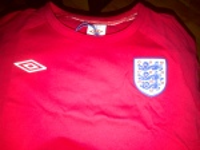 England football shirt (soccer)