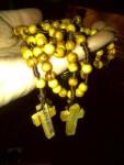olive wood rosary from Bethlehem